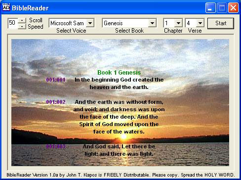 BibleReader v1.0a Screen Shot